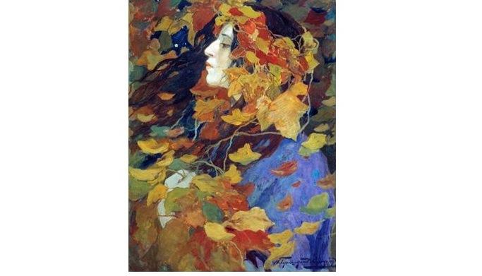 И.С. Горюшкин-Скоропудов Листопад Портрет В.В. Иссинской 1900 г.