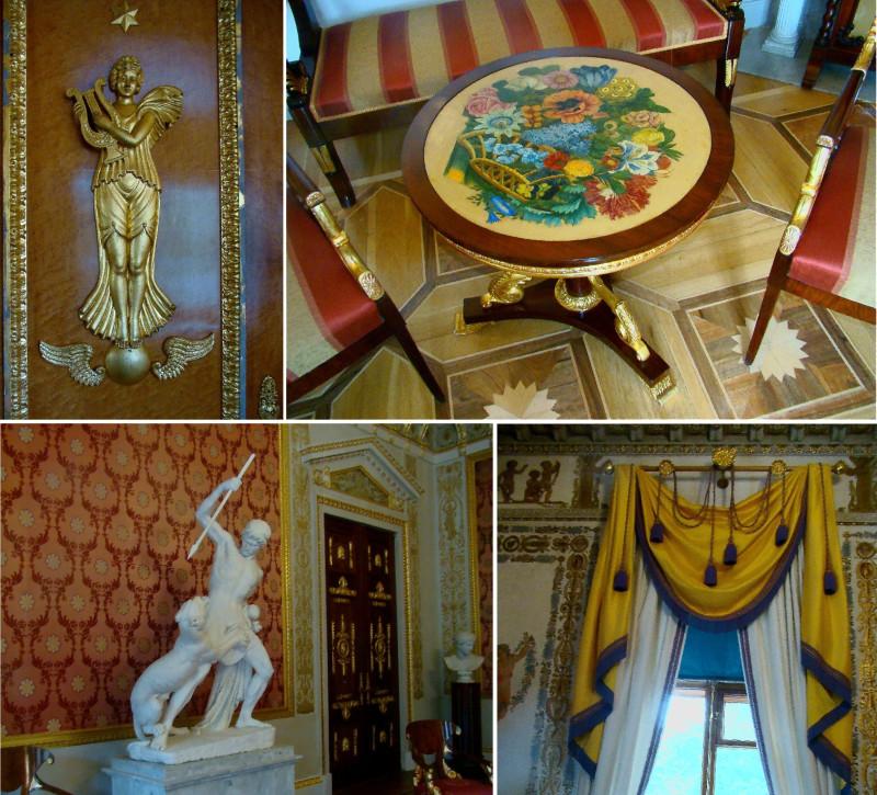 Элементы декора парадных залов Елагиноостровского дворца