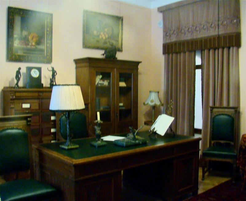 """Мужской кабинет в стиле """"модерн"""" — конец 19 века. Скорее всего у Столыпина был похожий."""