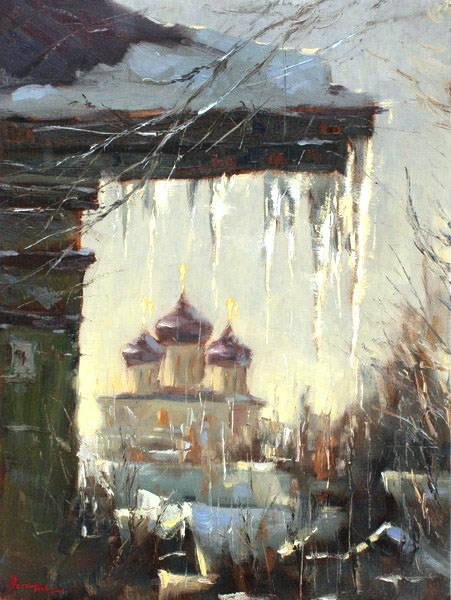 Весна сосульки храм