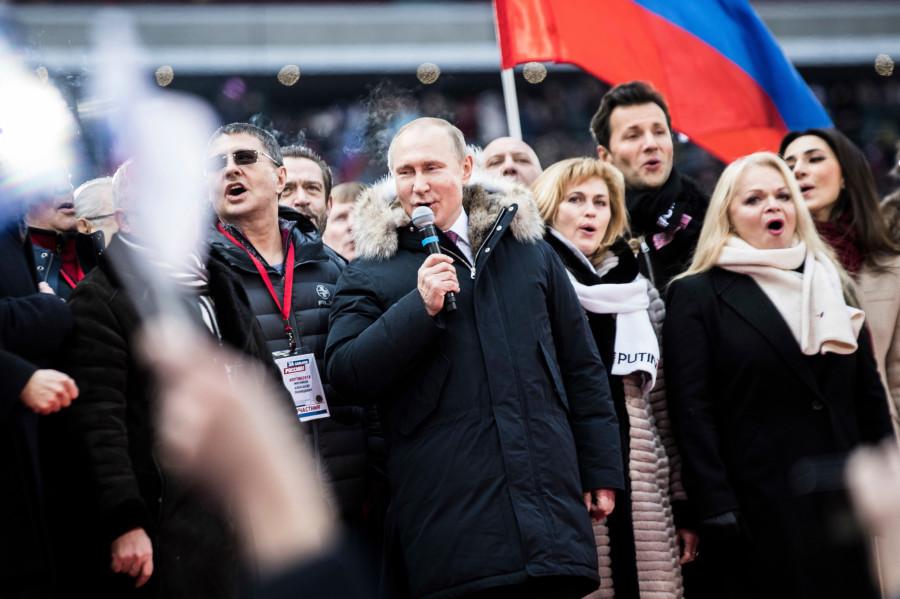 Встреча Путина в лужниках фото