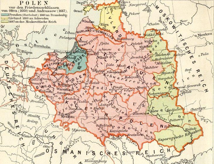 Polen_in_den_Grenzen_vor_1660.1892 года