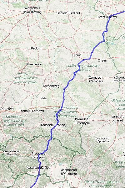 Польша: транзитный маршрут в Румынию и Болгарию