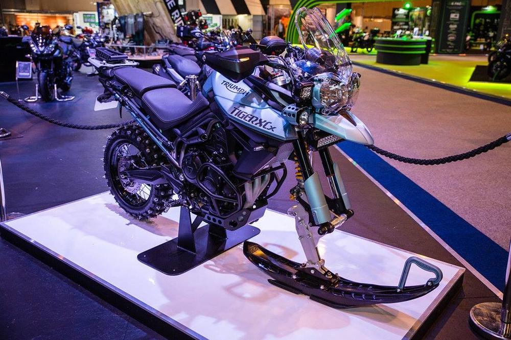 Зимний мотоцикл Triumph Tiger 800 Ice