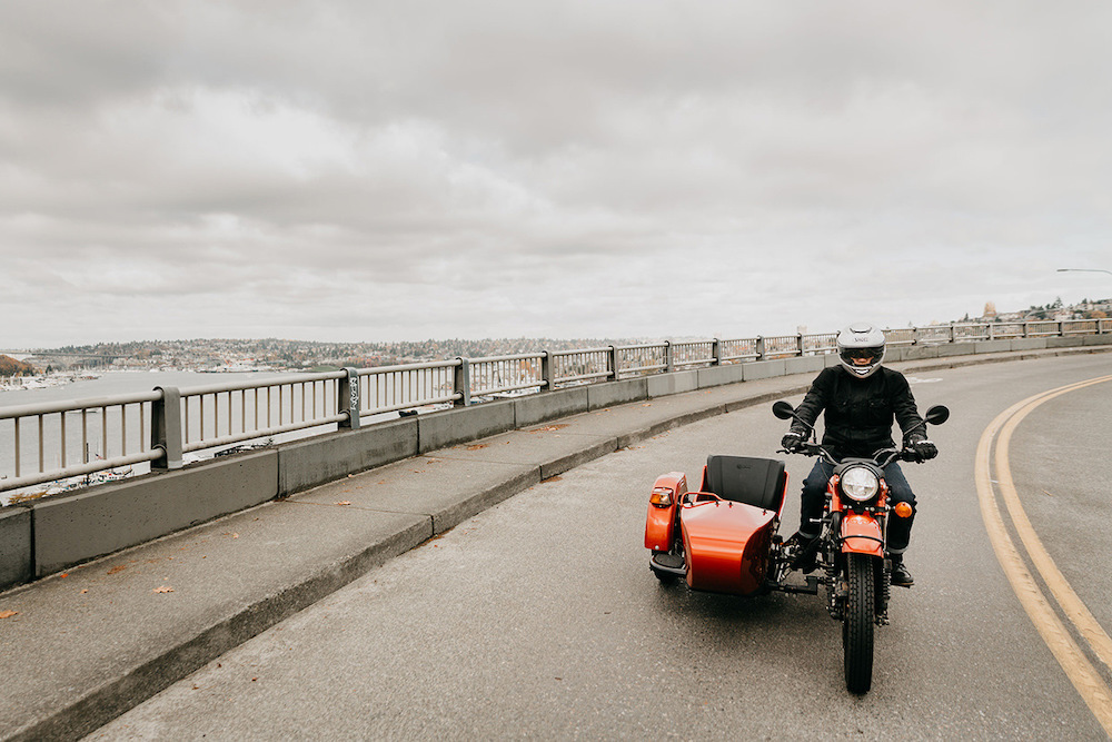 Первый электрический мотоцикл Урал