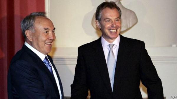 Тони Блэр с Назарбаевым