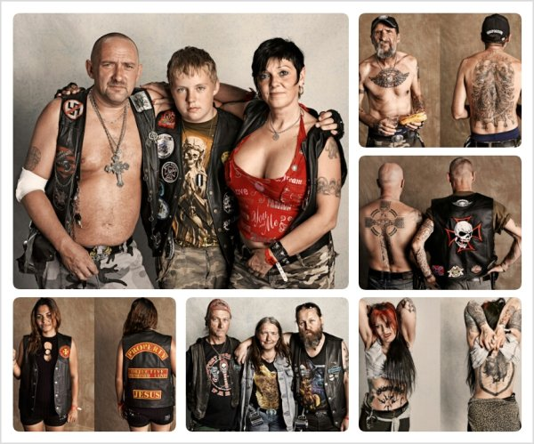 Портреты наездников Harley Davidson (Sacha Goldberger)