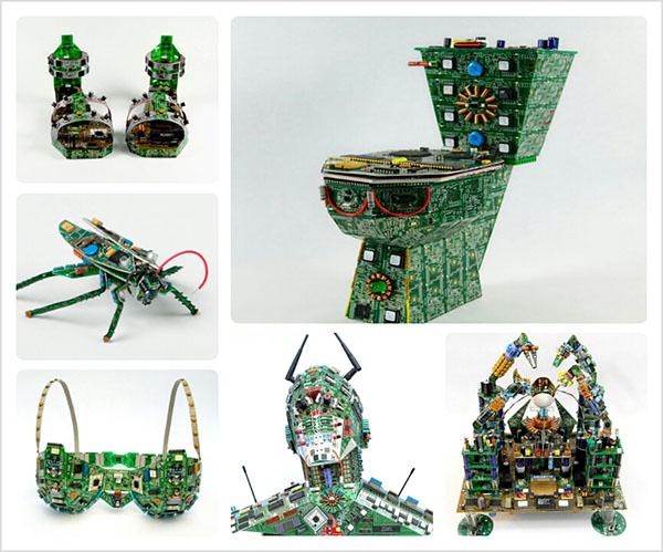 Скульптуры из компьютерных деталей
