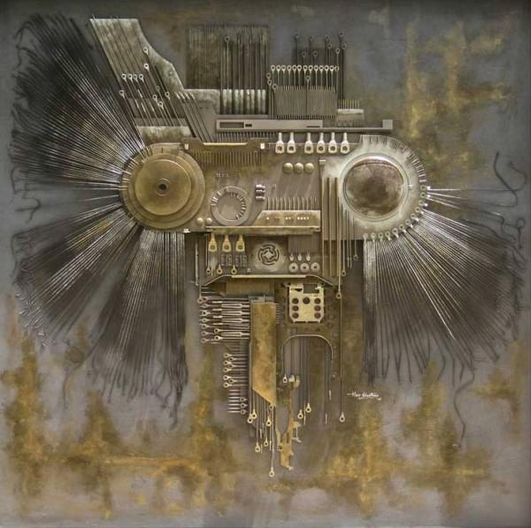 Скульптуры из электронных отходов