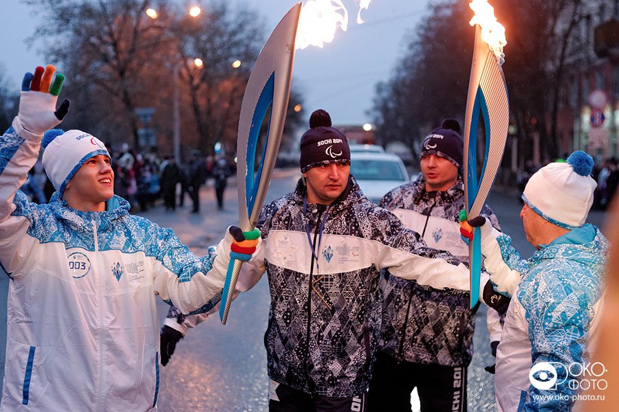 6. Эстафета Паралимпийского огня в Орле