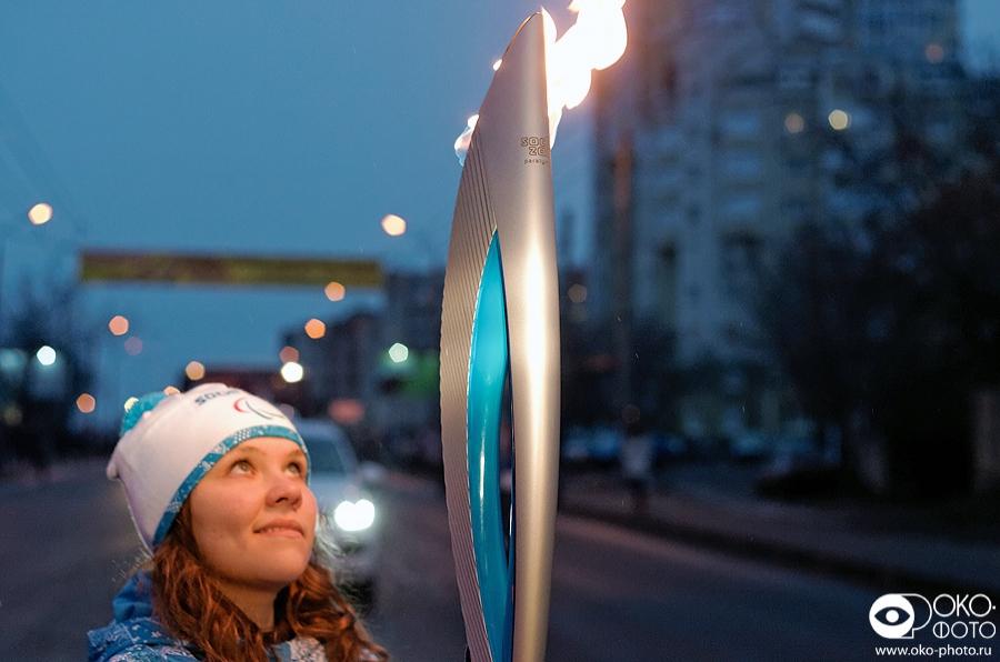 1. Эстафета Паралимпийского огня в Орле