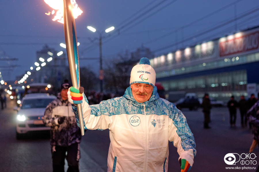 7. Эстафета Паралимпийского огня в Орле