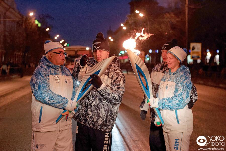 20. Эстафеты Паралимпийского огня в Орле