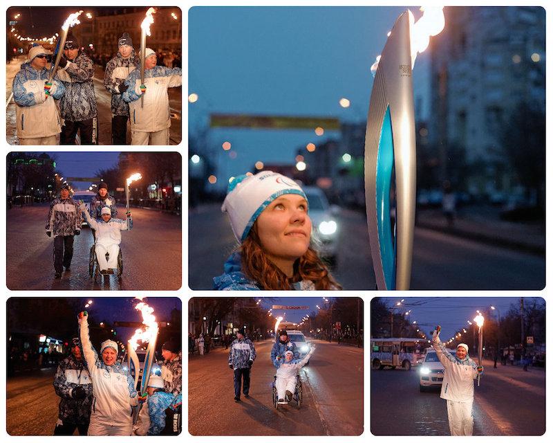 Эстафета Паралимпийского огня в Орле