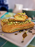 pistachio eclairs