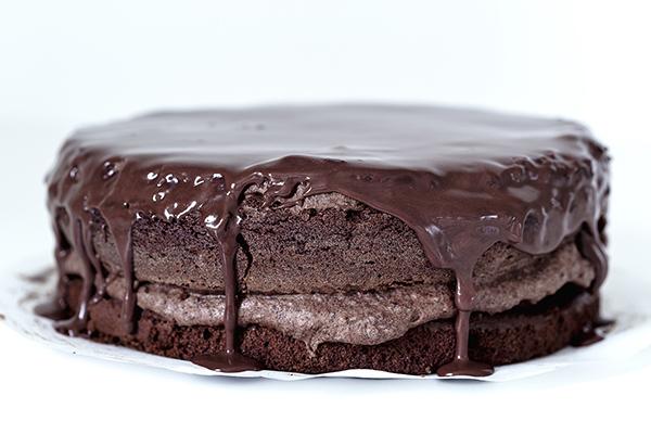 very chocolate cake small