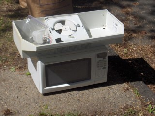 Old Microwave and Hood