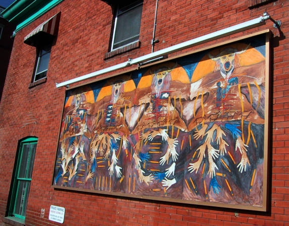 mural on a building on 17th Ave.