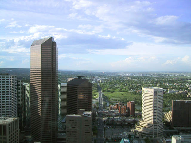 looking north from the Calgary Tower