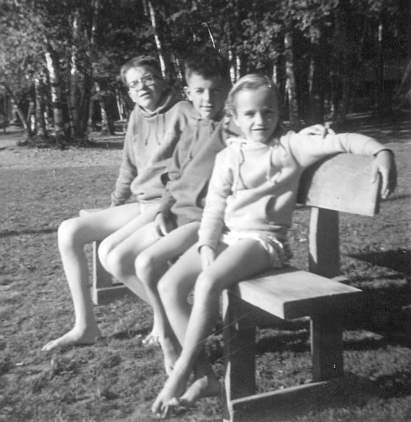 the kids at Henderson Lake