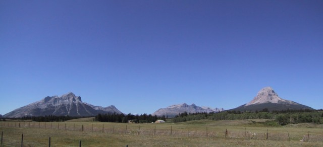 panoramic view of Crowsnest Pass area