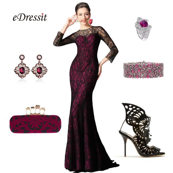 accessoiriser une robe de soirée dentelle