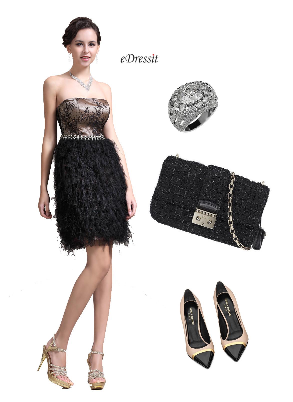 Accessoiriser sa robe noire pour un mariage