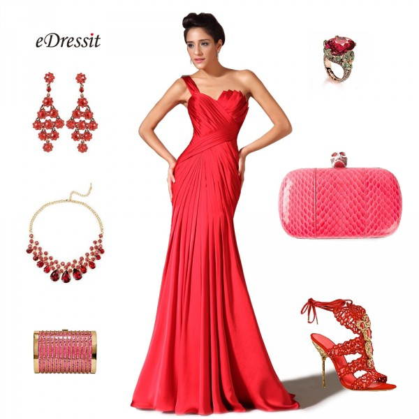 Look robe rouge soiree