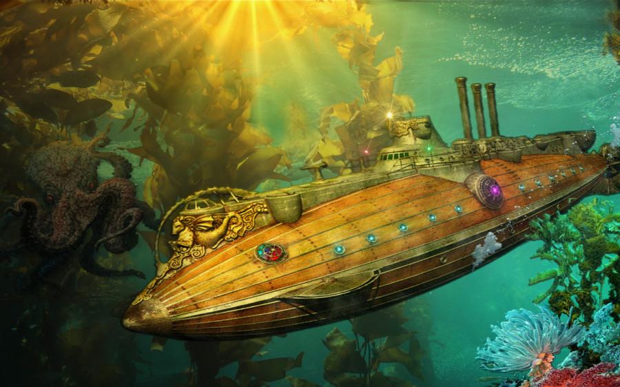 подводная лодка центру земли