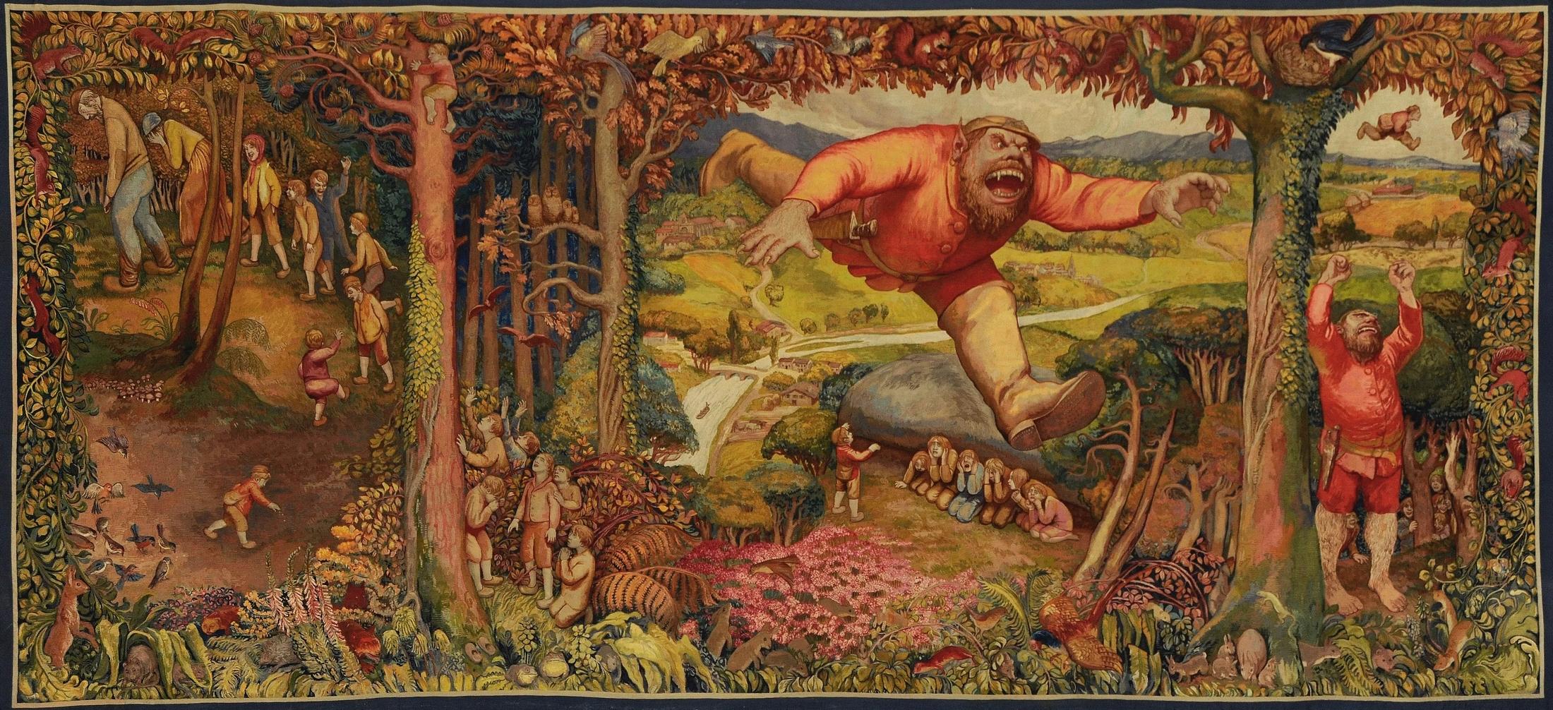 00_Jean Veber. Le Petit Poucet. Manufacture des Gobelins. 1920
