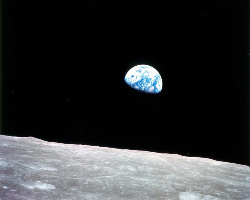Восход Земли, снятый экипажем «Аполлона-8» ровно 50 лет назад