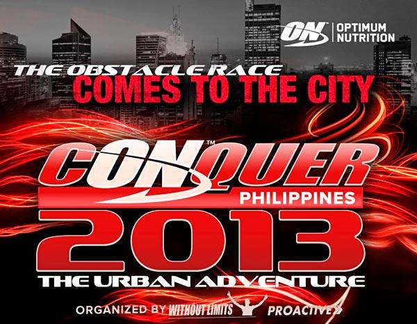 Постер «OPTIMUM NUTRITION PHILIPPINES - CONQUER 2013. The Urbain Adventure»