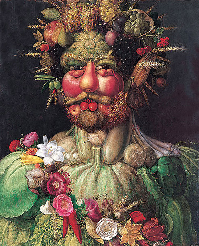 Джузеппе Арчимбольдо. Портрет императора Рудольфа II в образе растительного божества