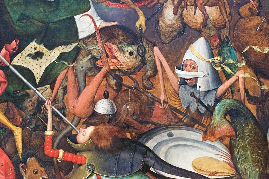 Питер Брейгель Старший. Падение мятежных ангелов (фрагмент). 1562