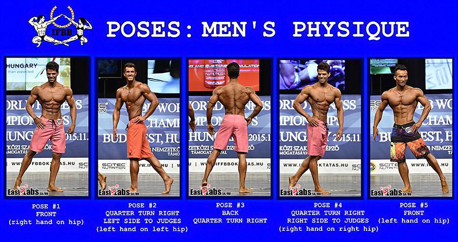 Men's Physique: Обязательные позы в шортиках