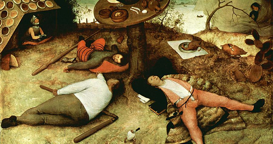 Питер Брейгель Старший (Pieter Bruegel the Elder). Бодибилдеры, объевшиеся палёным протеином (1567)