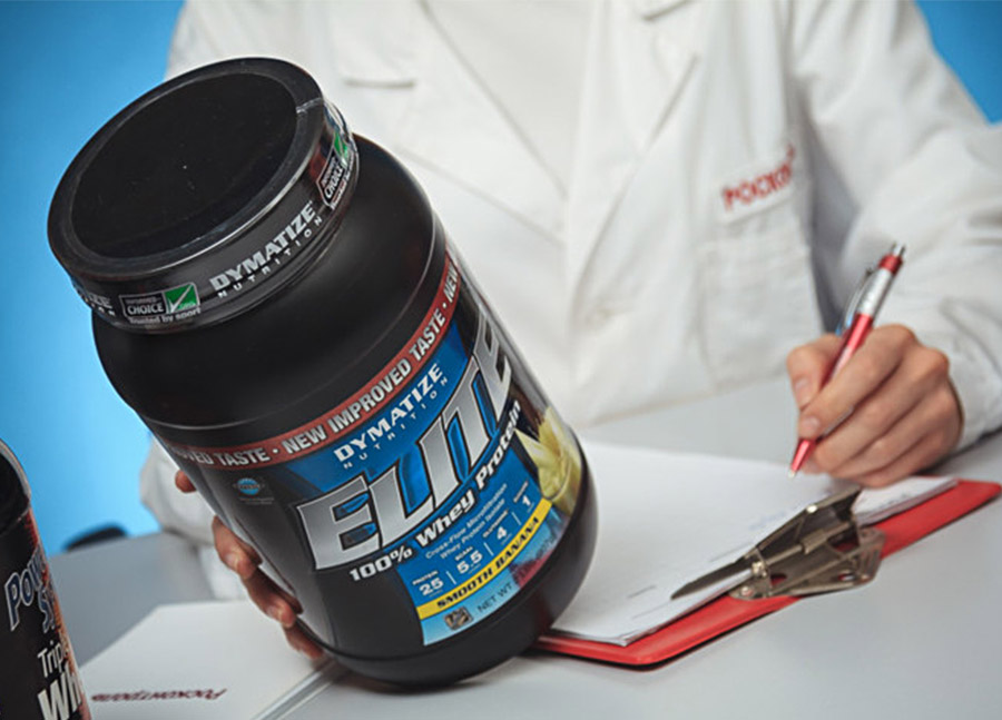 Elite 100% Whey Protein на экспертизе. Фото с сайта roscontrol.com