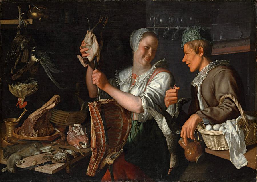 Картинка: Петер Втеваль (Peter Wtewael). Кухонная сценка. Голландия, 1620-е
