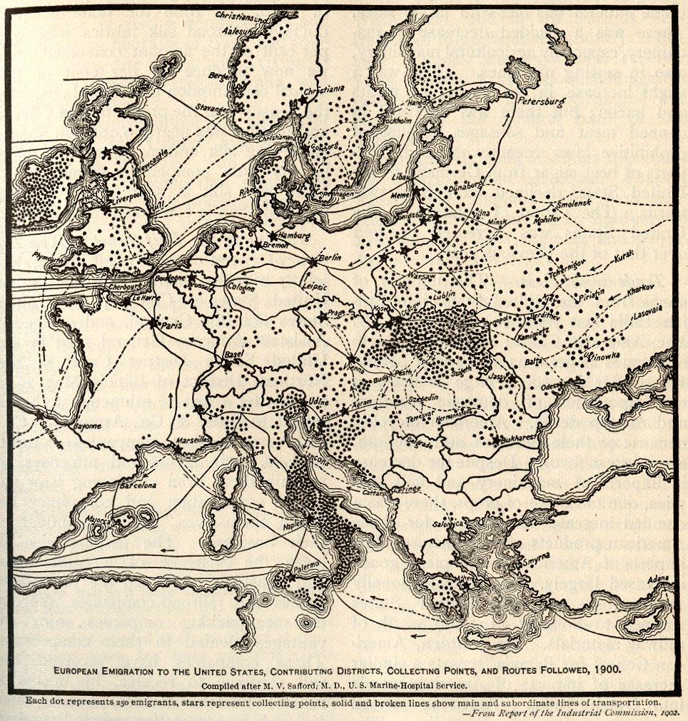 Европейская миграция в США (1900)