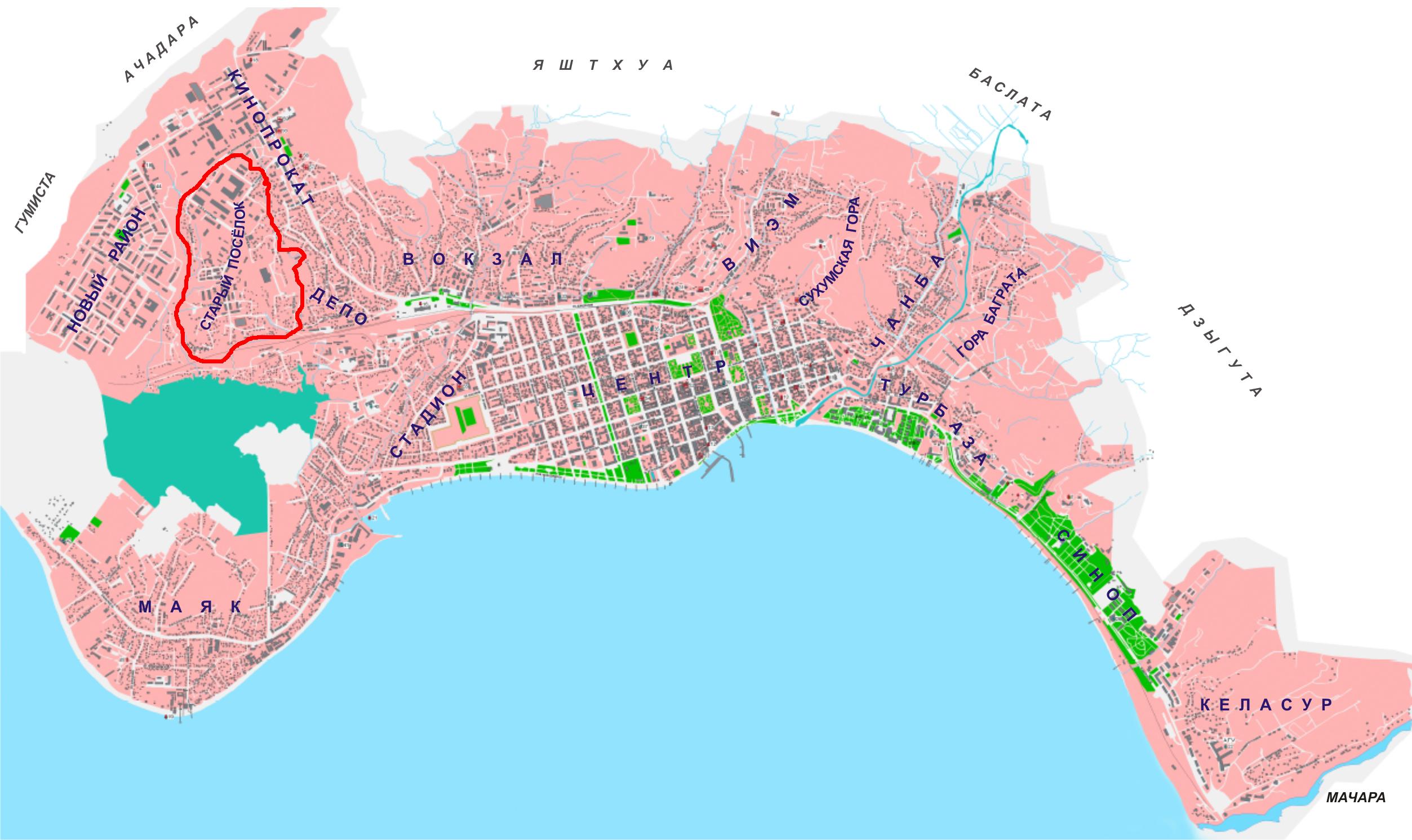 Этнический состав Старого посёлка (г. Сухум) по данным списков избирателей 2011 г.