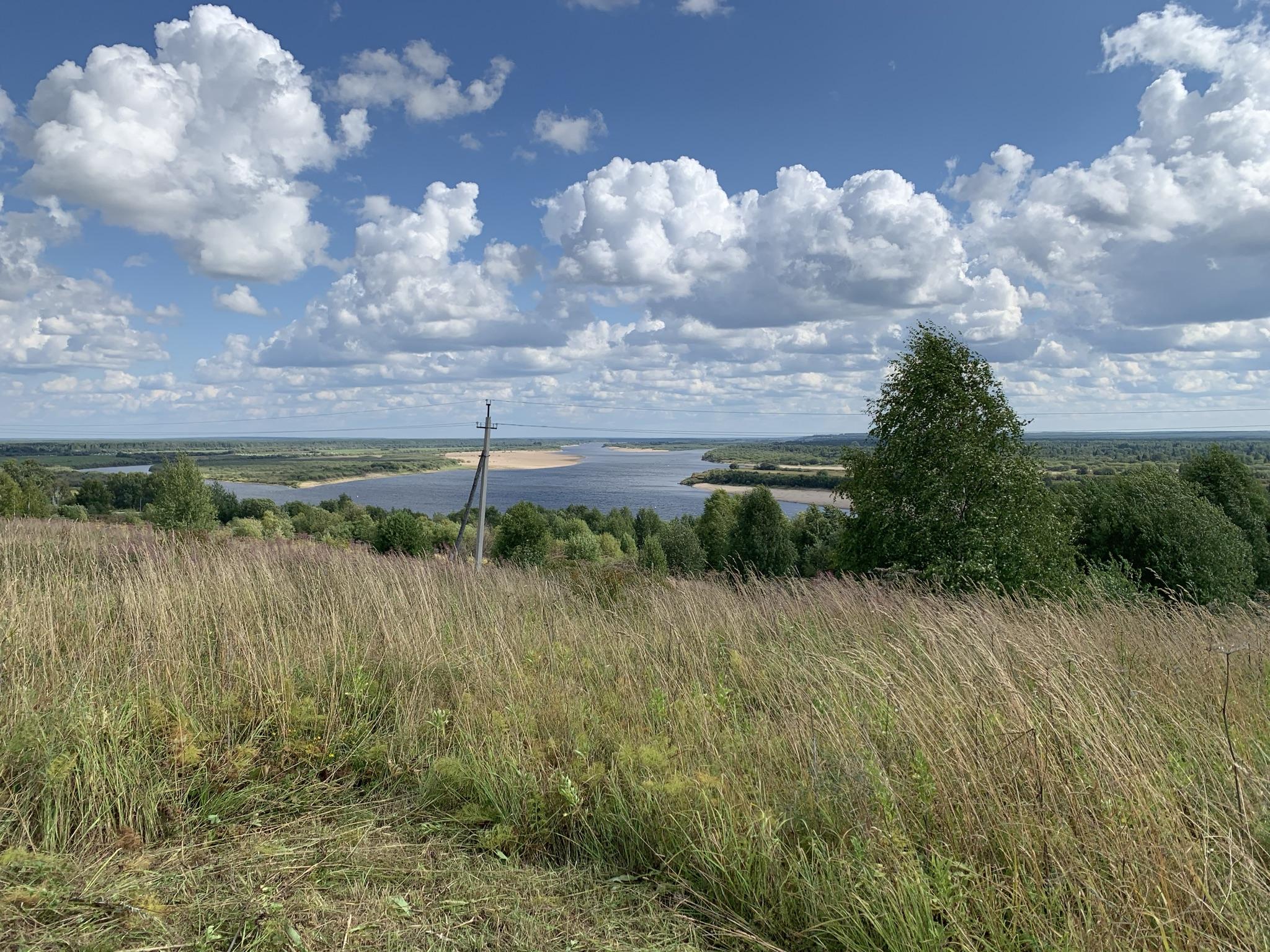 Вычегда на подходе к Усть-Выми.