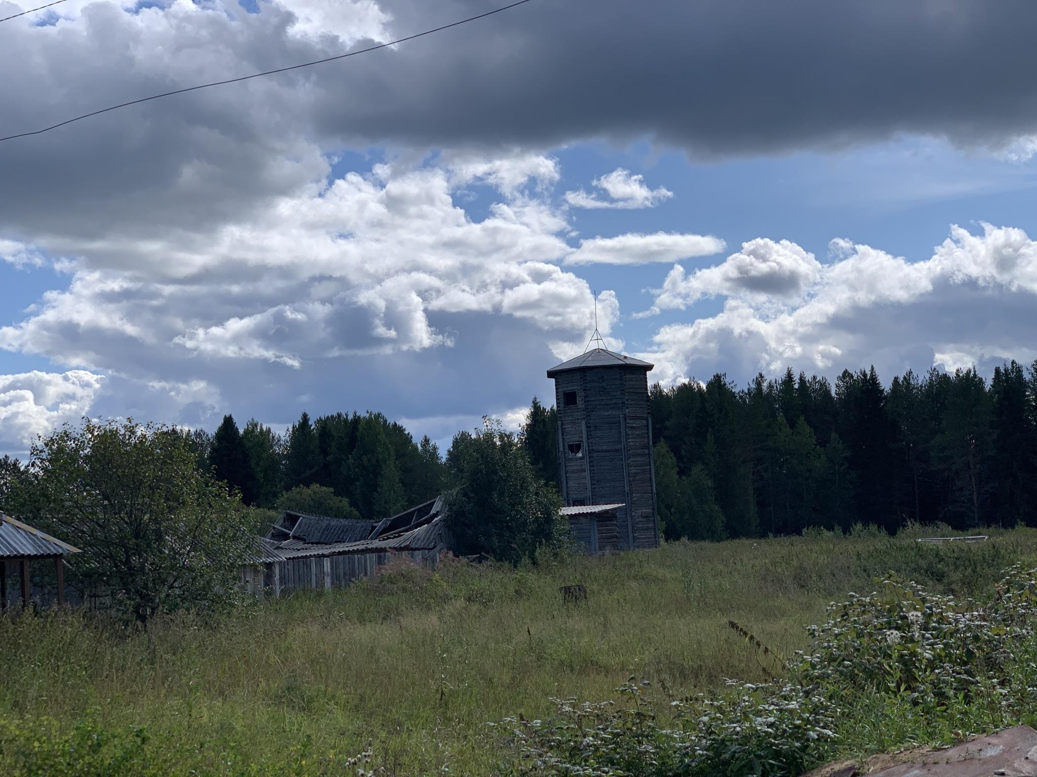 Окраина села.
