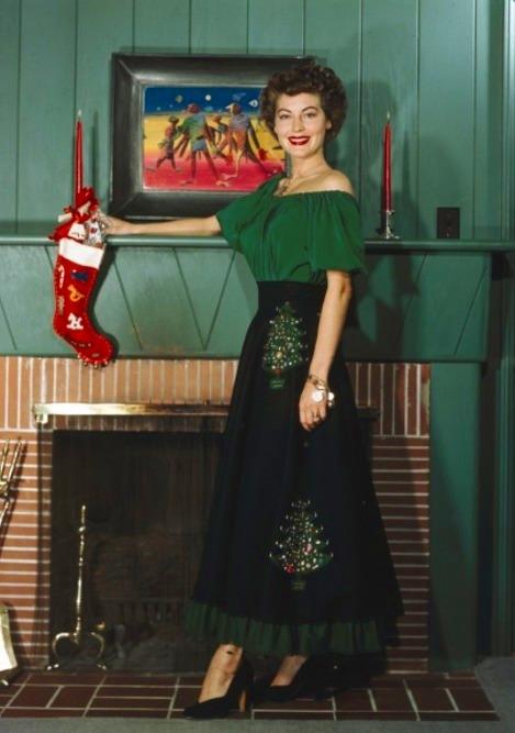 Ava Gardner - Christmas 1950's