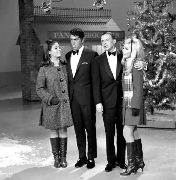 Dean Martin and Frank Sinatra with Their Daughters 1967