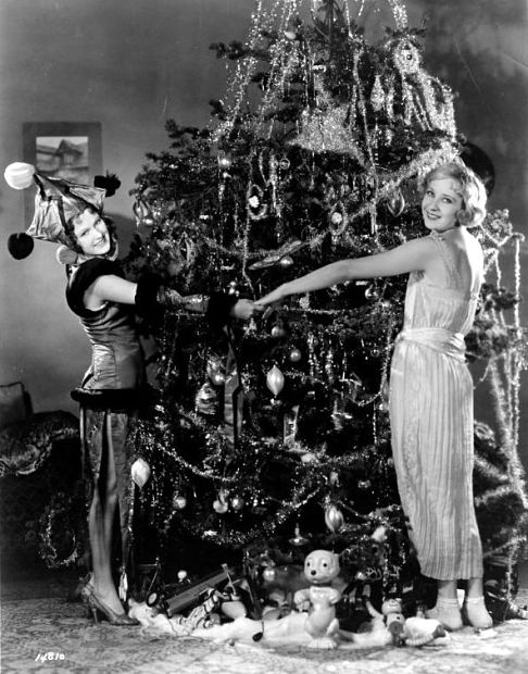 Dorothy Jordan and Gwen Lee - Christmastime 1920s