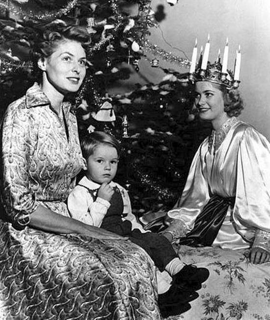 Ingrid Bergman with her son