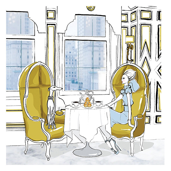 sn152 The Bergdorf Room by Megan Hess