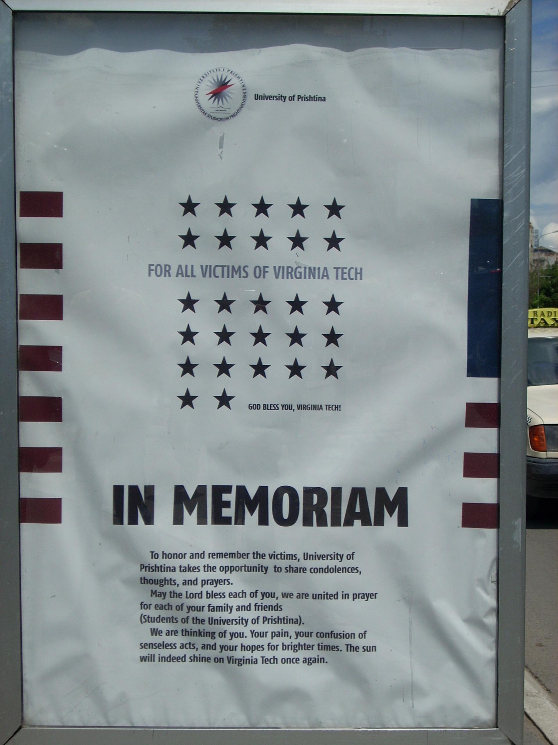 Poster in Pristina