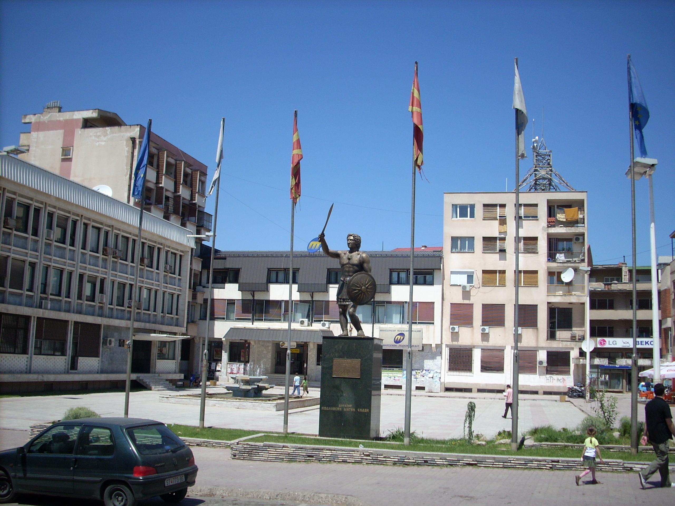 Monument in Stip