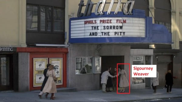 Sigourney Weaver and Woody Allen, seen from far away in Annie Hall